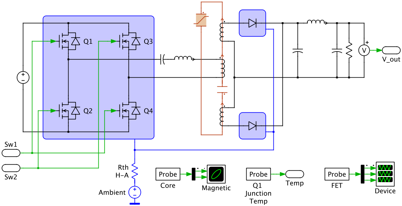 LLC Variable Frequency Resonant Converter | Plexim